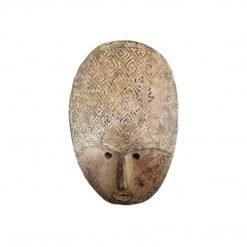 Masque bali sculpté en bois de manguier