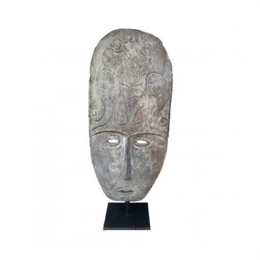 Très grand masque balinais traditionnel sculpté