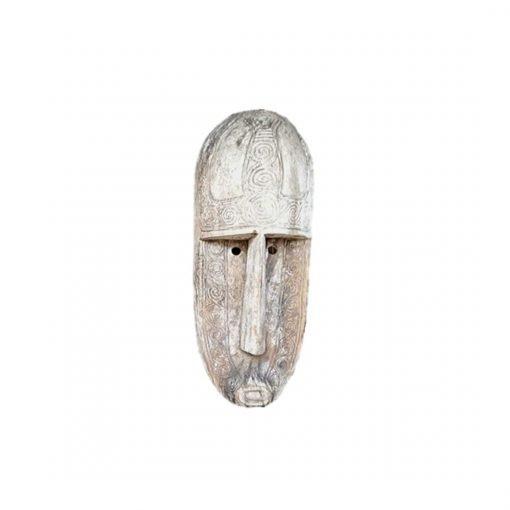 Très grand masque tribal en bois vieilli - face