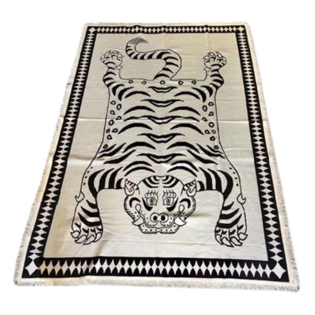 tapis à motif tigre bali original